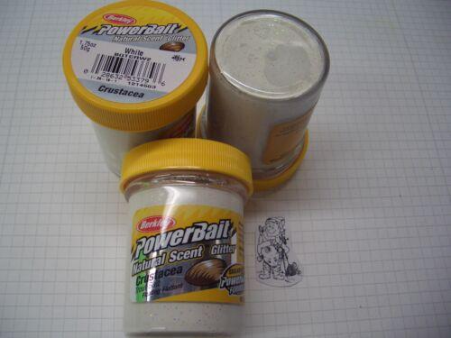 Berkley Power Bait Trout Bait Glitter White Muschel 3 x 50g-Glas 100g//6,66€