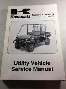 kawasaki mule 3010 trans4x4 diesel utv service manual ebay rh ebay com owners manual kawasaki mule 3010 owners manual kawasaki mule 3010