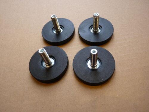 IKEA Beste Möbelfüße 4 Stück schwarz NEU