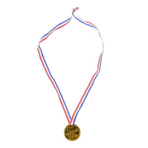 12x Plastic Children Gold Winners Medals Kids Game Sports Prize Awards Party VK