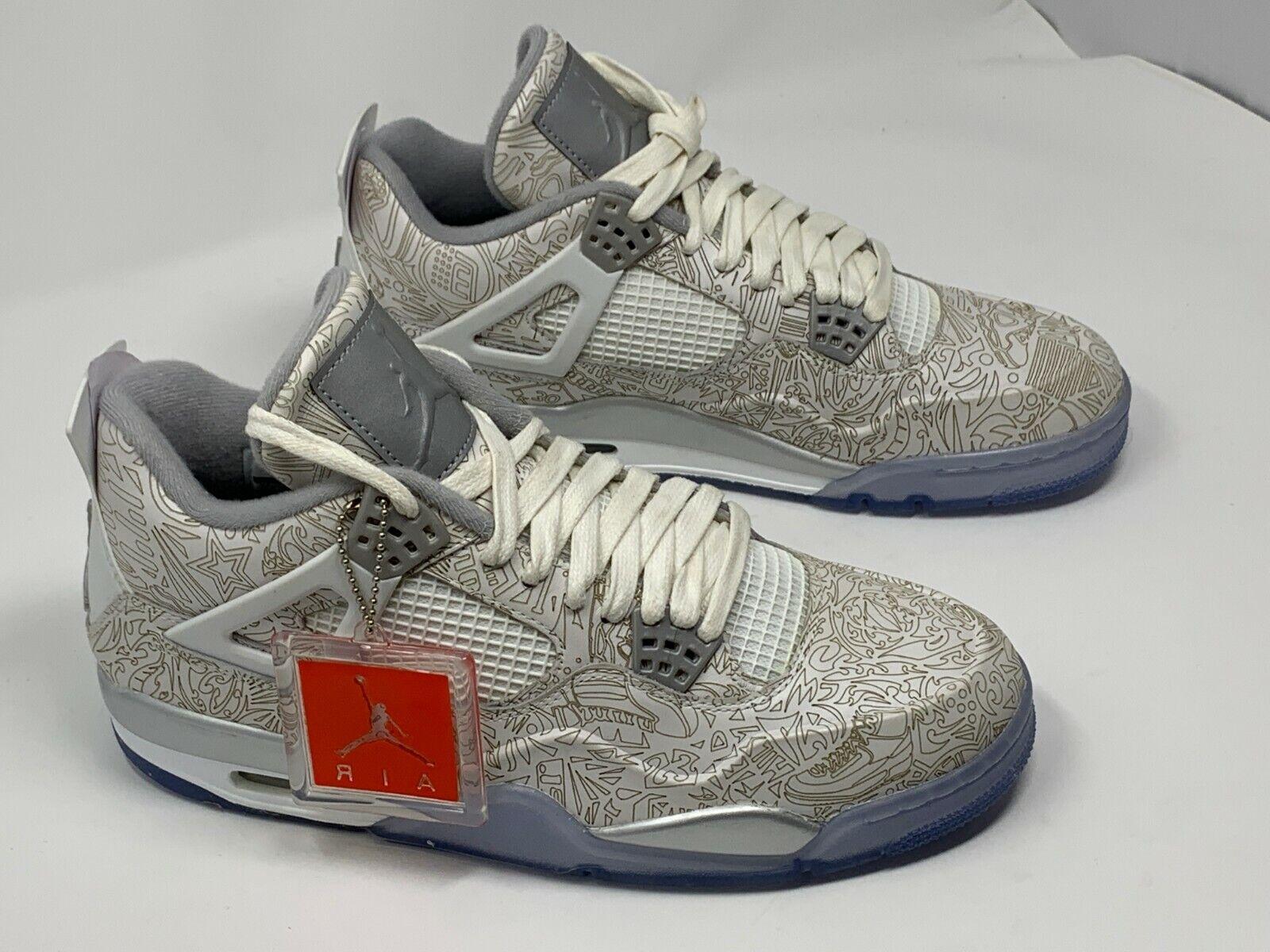 Nike AIR JORDAN 4 RETRO LASER  705333 105 SZ 10.5
