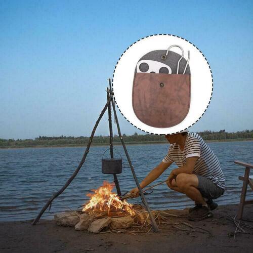 Outdoor Camping Tripod Portable Cooking Campfire Pot ew Holder Durable n R3O5