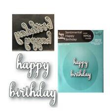 Lovely Happy Birthday metal die Memory Box cutting dies 99778 words,phrases