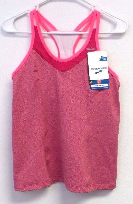 New Brooks Women's Epiphany Tank II - Med - Pomegranate Pink Free Shipping