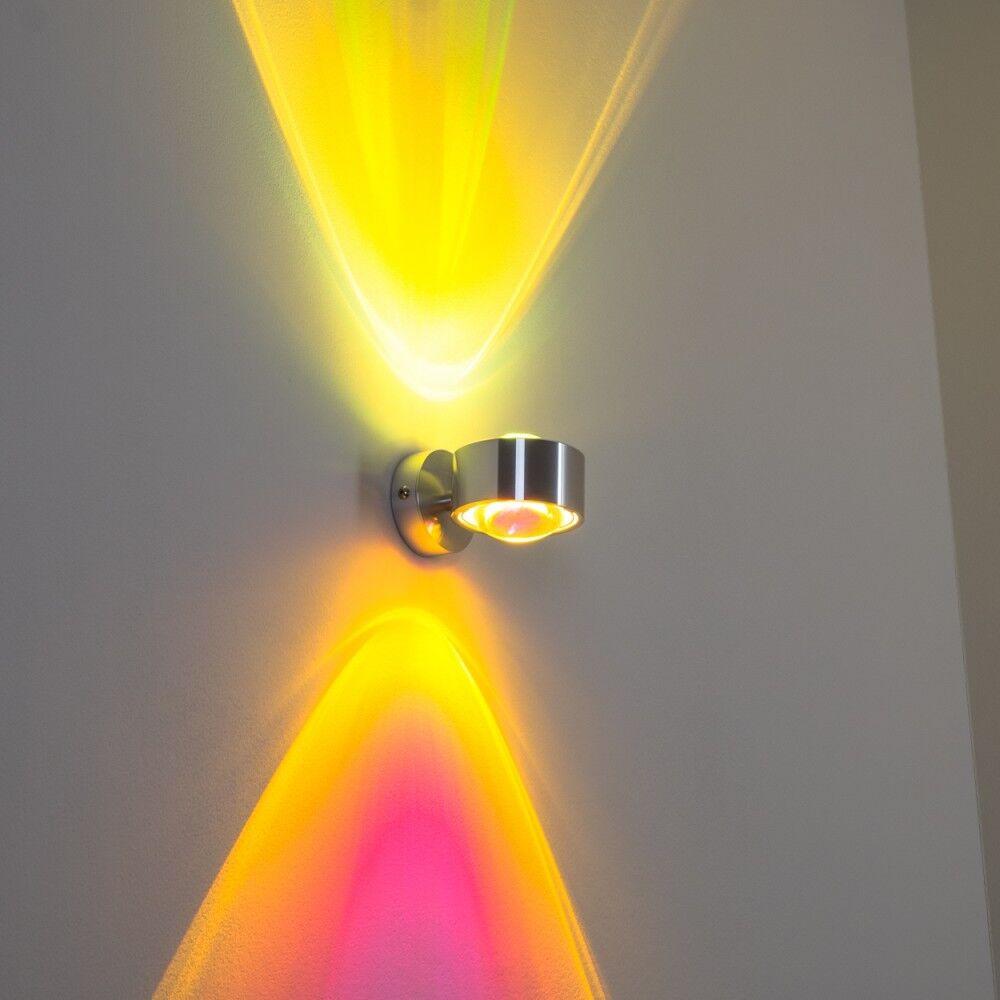 LED Wandleuchte Lampe Strahler Wohn Zimmer Up Down mit Farbfilter gelb magenta | Reparieren