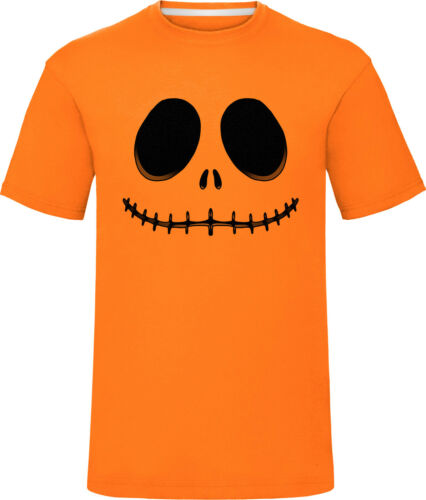 Homme Halloween Jack O Lanterne Citrouille T-shirt adultes cauchemar Nouveauté Tee Tops