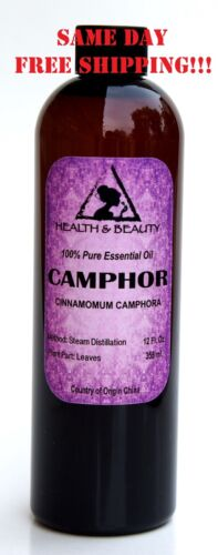 CAMPHOR ESSENTIAL OIL by H&B Oils Center AROMATHERAPY 100% PURE 12 OZ