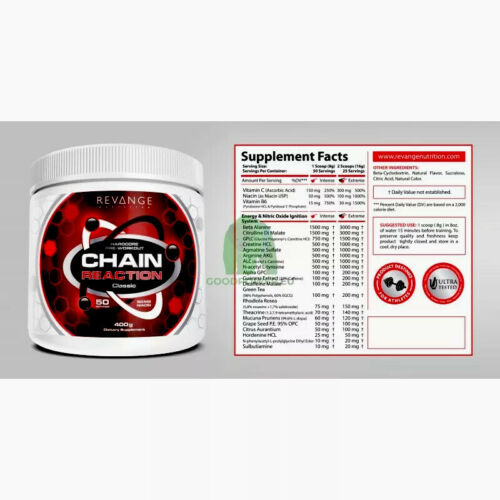 """""""ANGEBOT"""" Revange Nutrition """"Chain Reaction Classic"""" Hardcore Pre-Workout"""