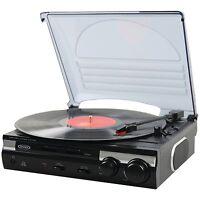 Jensen Retro 3-speed 33/45/78 Rpm Turntable Record Player W/ Stereo Speakers