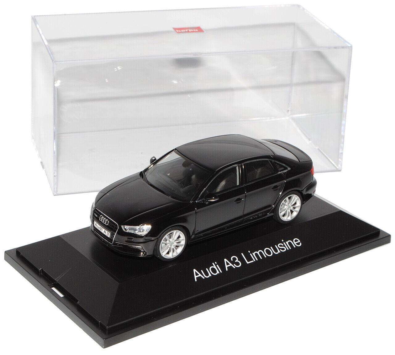 AUDI a3 limousine nera a partire dal 2013 8v 143 Herpa modellolo auto con o senza indi...