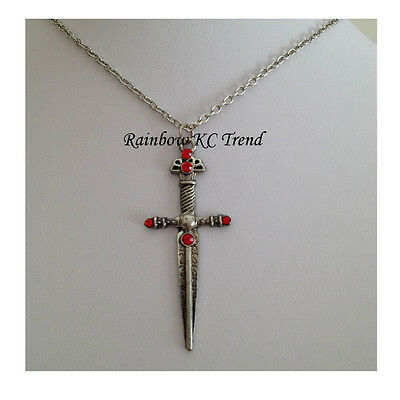 Harry Potter Necklace Sword of Gryffindor Pendant Necklace Antique Silver C1