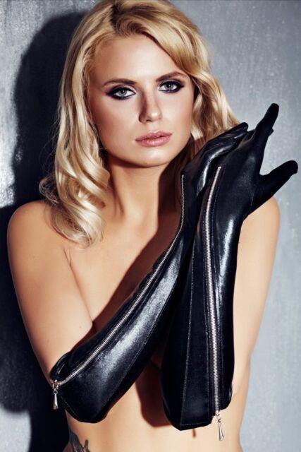 Handschuhe verschiedene Modelle Wetlook, Spitze, Lack, Satin, Samt, rot, schwarz