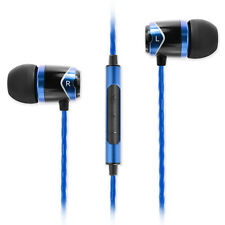 SoundMAGIC E10C In Ear Isolating Earphones with Mic - Black & Blue - Refurbished