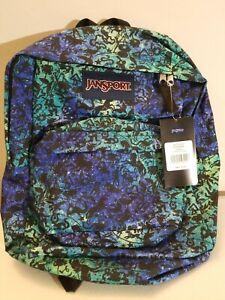 Details about NEW - JANSPORT Backpack Super Break ZODIAC Symbol  Blue/Purple/Green
