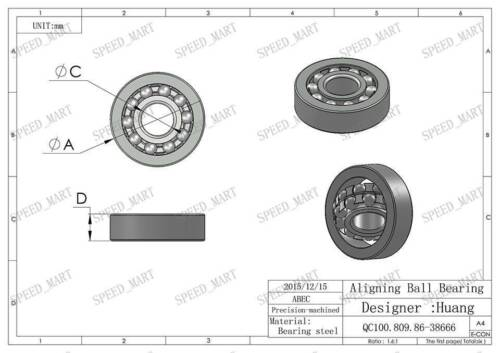 bore 8mm Self Aligning Double Row Bearing C3 10 PCS 1018 8mm*22mm*7mm