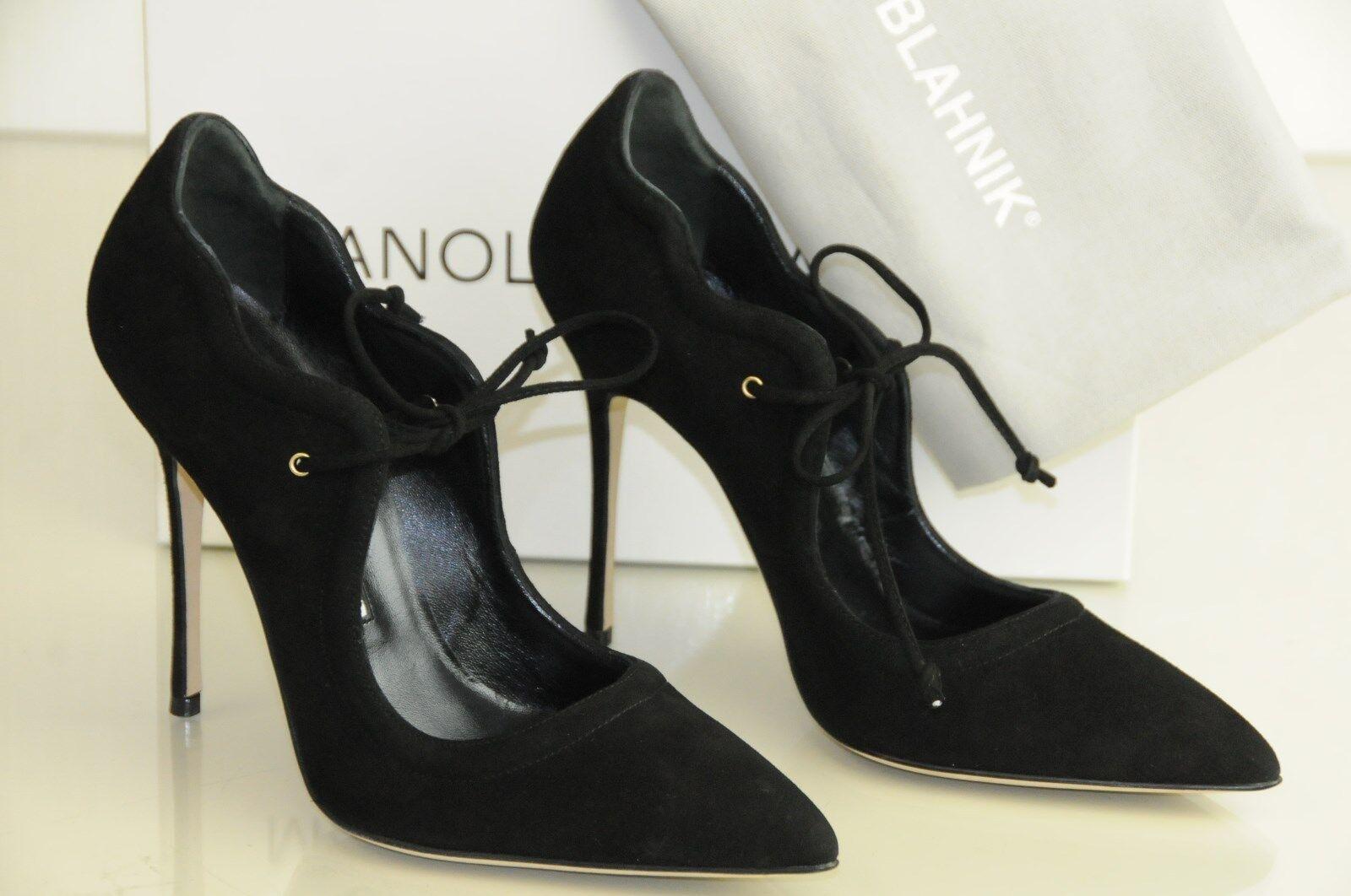 New New New Manolo Blahnik BB REFOLADA 115 Black Suede Pumps 4.5 Heels shoes 37 37.5 40 7ebb8a