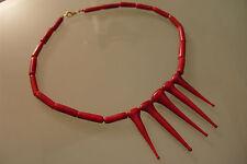 Halskette Kette original Muranoglas Schmuck aus Glas UNIKAT Handarbeit korallrot