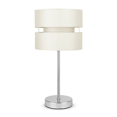 Modern Silver Chrome  Cream Touch Dimmer Bedside Table Lamp Lights Lamps NEW