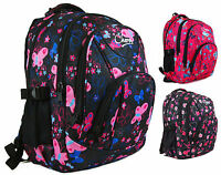 Large Quality Womens Girls Butterfly Hearts Chervi College School Backpack Bag