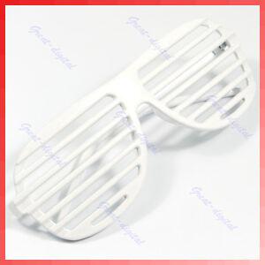White-New-Full-Shutter-Glasses-Shades-Sunglasses-Club-Party