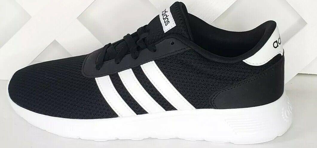 Adidas Lite Racer Men's Running shoes US 8.5 Black White BB9774 Mesh New