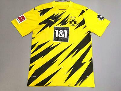 Borussia Dortmund 20 21 Home Short Sleeve Soccer Jersey Ebay
