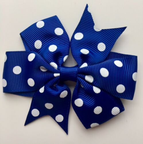 "3/"" Grosgrain Bows Hair Clips Slides on Clips Poka Dot Bows Polka Dot Hair Bows"