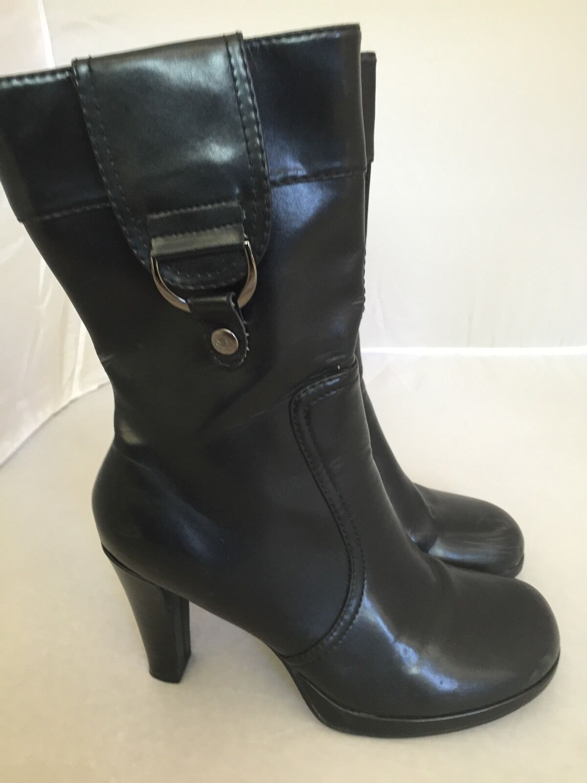 Skechers Size 9.5 M Calf High Boots Black Synthetic Upper Somethin' Else