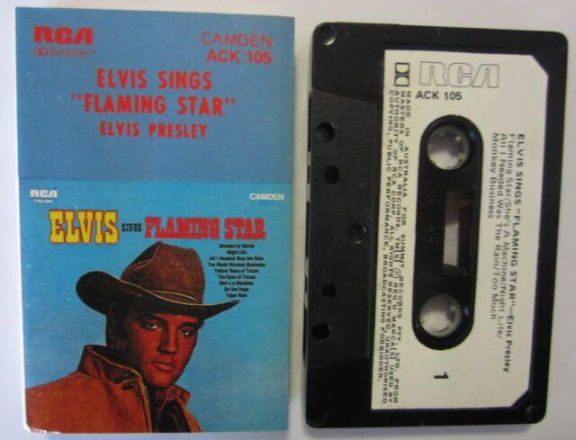 ELVIS PRESLEY ELVIS SINGS FLAMING STAR AUSTRALIAN RELEASE CASSETTE TAPE