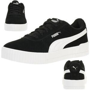 3007dc29ec Das Bild wird geladen Puma-Carina-Damen-Sneaker-Suede-Schuhe-Wildleder- 369864-