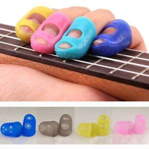 12pcs silicone guitar bass finger guard fingertip thumb ukulele picks protectors ebay. Black Bedroom Furniture Sets. Home Design Ideas