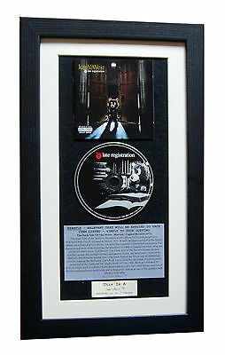 KANYE WEST Late Registration CLASSIC CD Album QUALITY FRAMED+EXPRESS GLOBAL SHIP