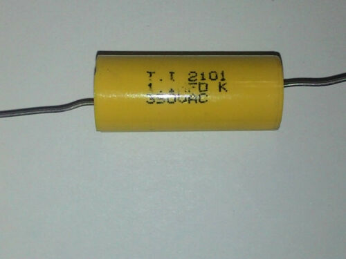 T.I 1.1uF 350 Volt AC VAC Poly Film Capacitor Axial Leads  USA Seller