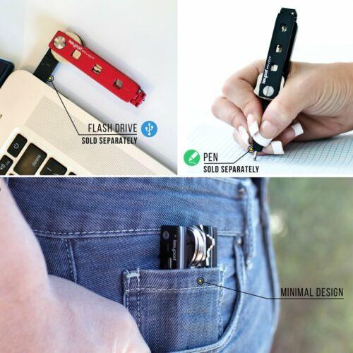 Smart Key Holder  Modular Edc Keychain Multitool Keyport Pivot Key Organizer