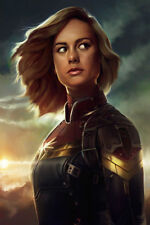 Art Captain Marvel Brie Larson Carol Danvers 2019 Movie Poster 20x30 24x36 P1082