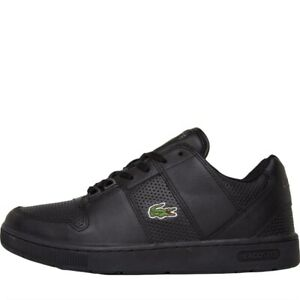 Lacoste-Thrill-Us-Mens-Trainers-Black-Dark-Grey-Size-UK-6-10-Shoes-MM699