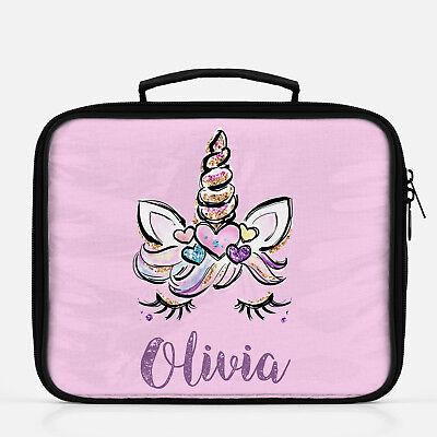 Unicorn Lunch Box, Personalized Lunch Bag for Girls, Custom Lunchbox  preschool | eBay