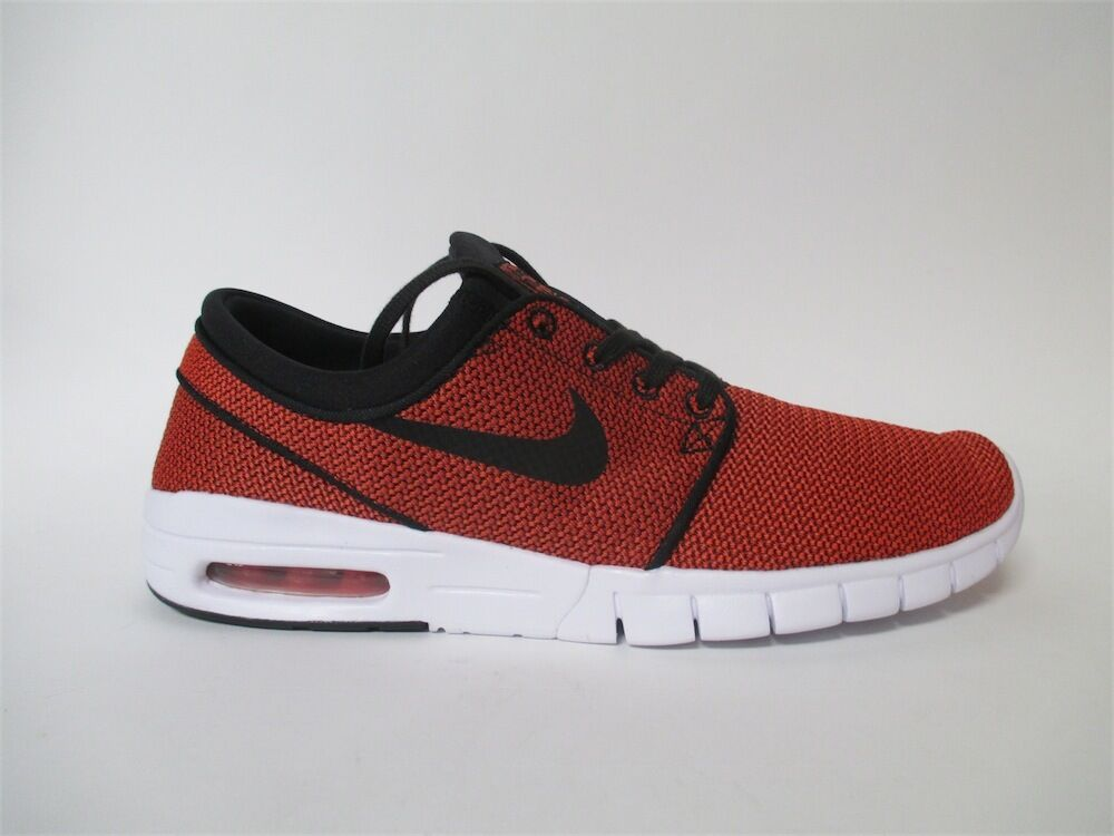 Nike SB Stefan Janoski Max Black Max Orange (Almost Red) Sz 13 631303-014