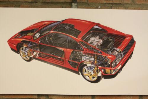 Ferrari GTS 348 gran tienda de Banner PVC Trabajo Garaje Auto Show Banner