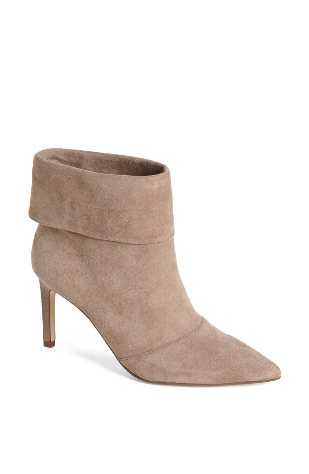 Ivanka Trump Beige Taupe 9 Suede High Heel Pointed Toe Bootie Ankle Boot Anders