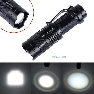 CREE T6 LED Mini Flashlight 14500 AA Torch 3500LM Zoomable Lamp Light 3-mode KJ
