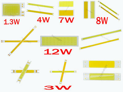 5PCS 1.3W 3W 4W 7W 8W 12W Warm White / Bright White LED Light Strip Bar COB SMD