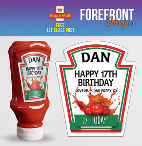 Personalised-Spoof-ketchup-bottle-label-Perfect-Birthday-Graduation-Gift