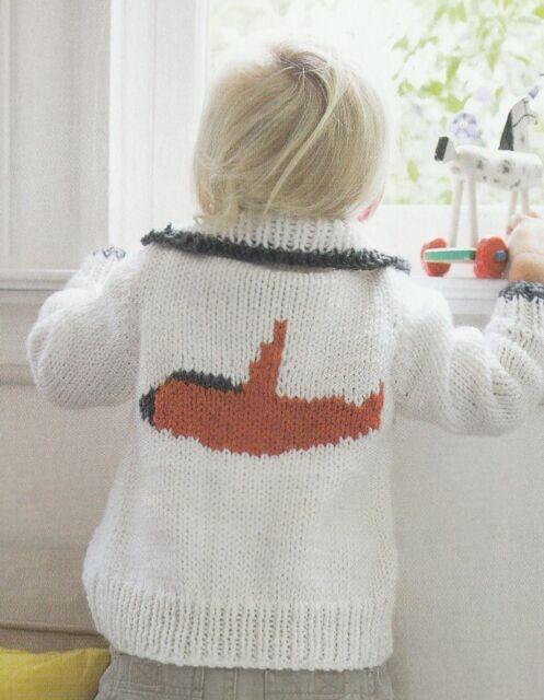 Knitting Pattern ~ Baby Jet Airplane Collared Cardigan ...