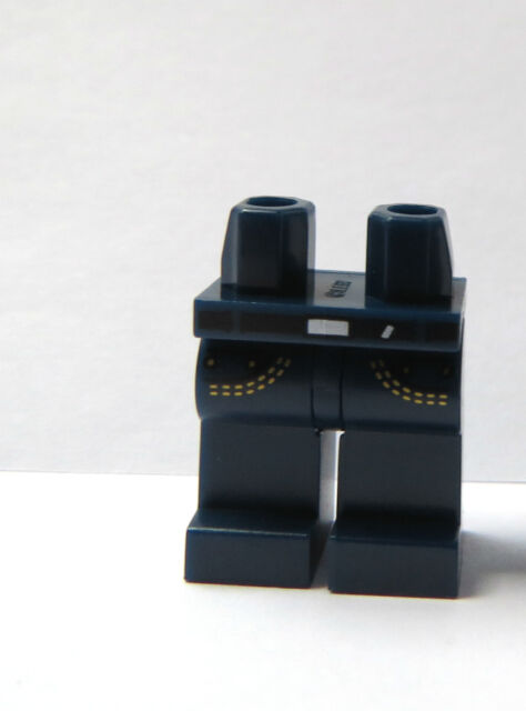 Lego 4  Leg  Legs Lower Parts For Minifigure Figure Dark Earth Blue