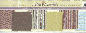 Miss-Elizabeth-039-s-12-x-12-Scrapbooking-6-Page-Paper-Set-BASIC-BACKGROUNDS