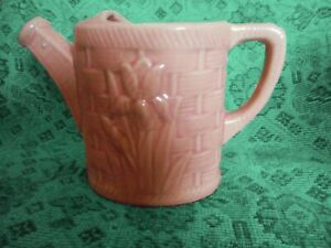 Shawnee-Pottery-Vintage-Pink-Watering-Can-Planter-Tulip-Design-Circa-1940s