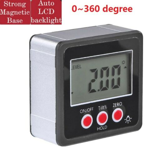 Magnetic Base Digital Protractor Angle Gauge Finder Inclinometer Bevel Box LCD