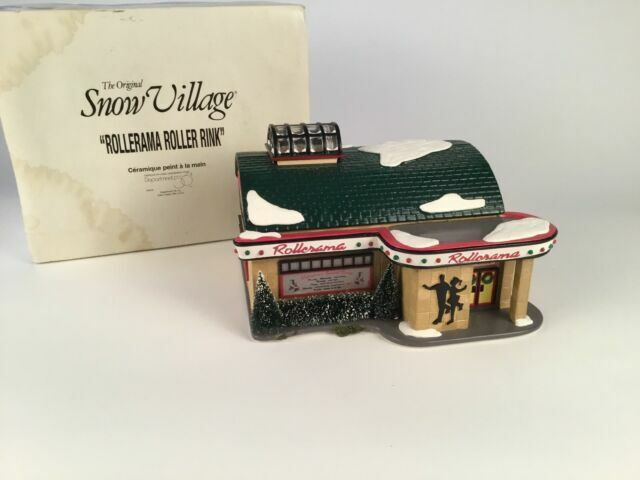 Dept 56 Snow Village® ROLLERAMA ROLLER RINK BRAND NEW IN THE CASE