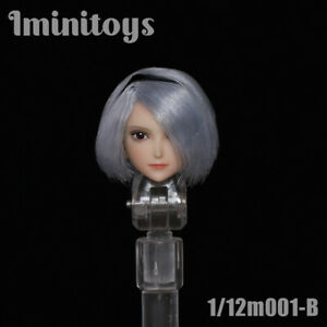 Iminitoys 1//12 Anime Girl Head Carving Head Sculpt B 6/'/' Female Figure Toy